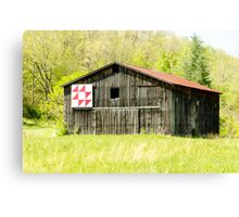 Kentucky Barn Quilt - Flying Geese Canvas Print