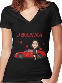 porsche turbo 911 Joanna Women's Fitted V-Neck T-Shirt