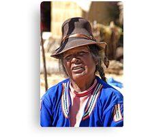 Wrinkled Smile, Hat & Braids Canvas Print