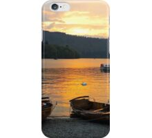 Sunset and Canoes iPhone Case/Skin