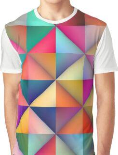 Multicolor Triangle Square Tiles Geometric Pattern Graphic T-Shirt