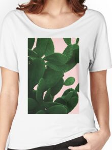 Cactus On Pink  Women's Relaxed Fit T-Shirt