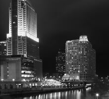 Chicago River After Dark by Victoria Jostes