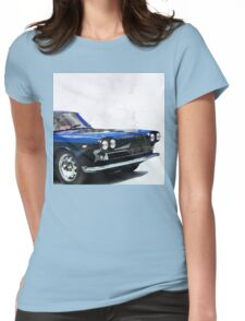 Vintage Supercar Watercolor Womens Fitted T-Shirt