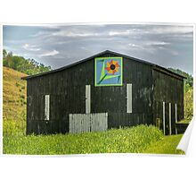 Kentucky Barn Quilt - Flower of Friendship Poster