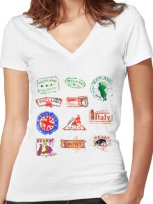 Passport Women's Fitted V-Neck T-Shirt