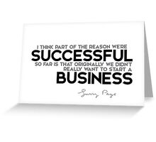successful business - larry page Greeting Card