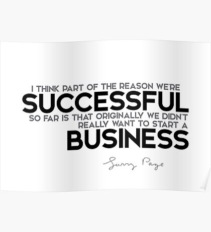 successful business - larry page Poster