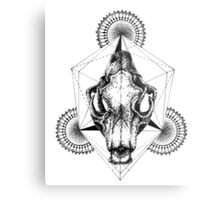 Diamond Skull Metal Print