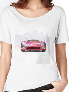 Vintage Supercar Watercolor Women's Relaxed Fit T-Shirt