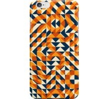 Irregular Geometric Blocks Square Quilt Pattern iPhone Case/Skin
