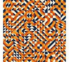 Irregular Geometric Blocks Square Quilt Pattern Photographic Print