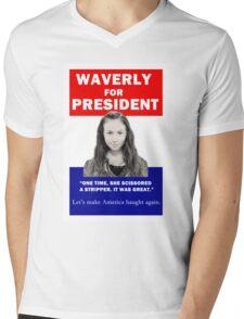 Waverly For President Mens V-Neck T-Shirt