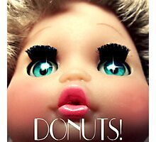 baby doll sees DONUTS! Photographic Print