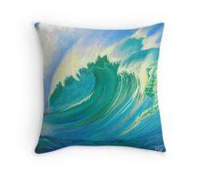 Wave Power Throw Pillow