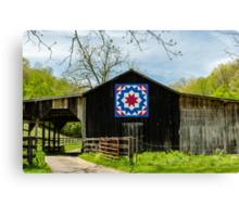 Kentucky Barn Quilt - Carpenters Wheel Canvas Print