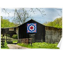 Kentucky Barn Quilt - Carpenters Wheel Poster