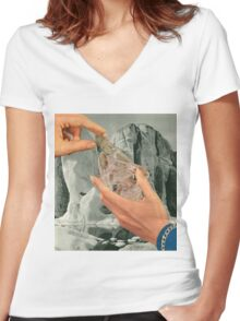 Crystal Mountain Women's Fitted V-Neck T-Shirt