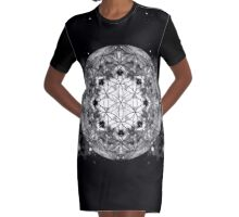 Flower of Life 7-16 Graphic T-Shirt Dress