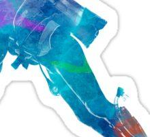 Man scuba diver 02 in watercolor Sticker