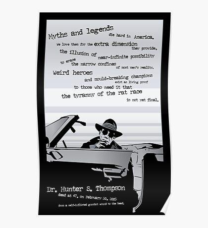 Hunter S. Thompson - Last Outlaw Poster