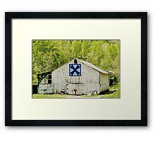 Kentucky Barn Quilt - Windmill Framed Print