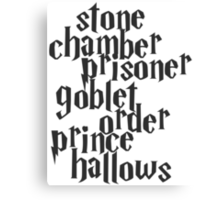 Stone Chamber Prisoner Goblet Order Prince Hallows Canvas Print
