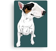 Johnny Cash Bull Terrier  Canvas Print