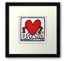 Keith Haring Running Heart Framed Print