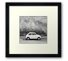 Old car watercolor painting Framed Print