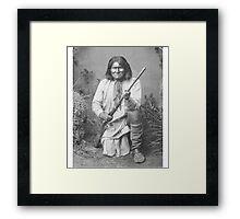 Geronimo Native American Tribe Leader Framed Print