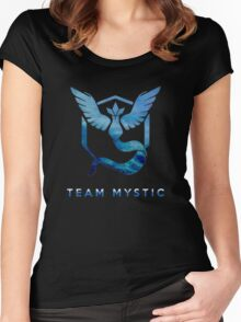 funny tshirt poke, Mystic team Women's Fitted Scoop T-Shirt