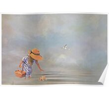 Collecting Sea Shells Poster
