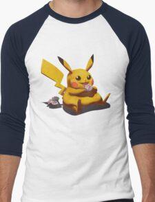 Pikachu Pokemon Men's Baseball ¾ T-Shirt