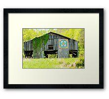 Kentucky Barn Quilt - Thunder and Lightening Framed Print