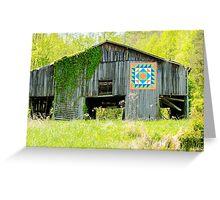 Kentucky Barn Quilt - Thunder and Lightening Greeting Card
