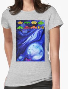 Space Invasion 1977 (Blue) Womens Fitted T-Shirt