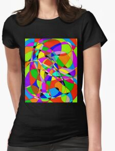ms paint marble Womens Fitted T-Shirt
