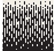Rounded Lines Halftone Transition Pattern Print Design Photographic Print