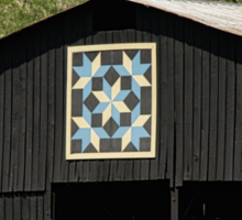 Kentucky Barn Quilt - Snow Crystals Sticker