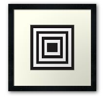 Black and White Squared Framed Print