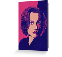 Icons - Gillian Anderson Greeting Card