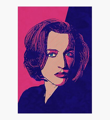 Icons - Gillian Anderson Photographic Print