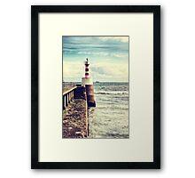 Amble Pier Lighthouse Framed Print