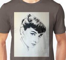 Audrey Hepburn portrait Unisex T-Shirt