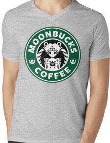 Moonbucks Coffee Mens V-Neck T-Shirt