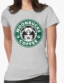 Moonbucks Coffee Womens Fitted T-Shirt