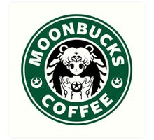 Moonbucks Coffee Art Print