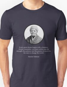 Harriet Tubman Quote Civil Rights Unisex T-Shirt