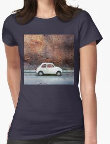 Old car watercolor painting Womens Fitted T-Shirt
